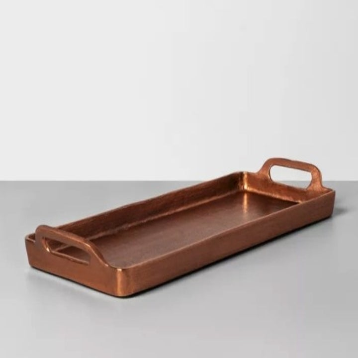 The copper rectangle tray