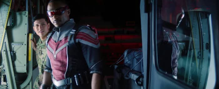 Anthony Mackie as The Falcon in The Falcon and the Winter Soldier