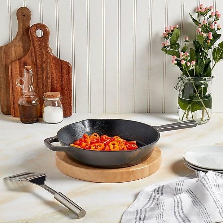 Artisanal Kitchen Supply® Enameled Cast Iron 10-Inch Round Skillet