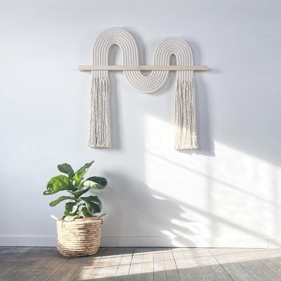 A large macrame wall hanging