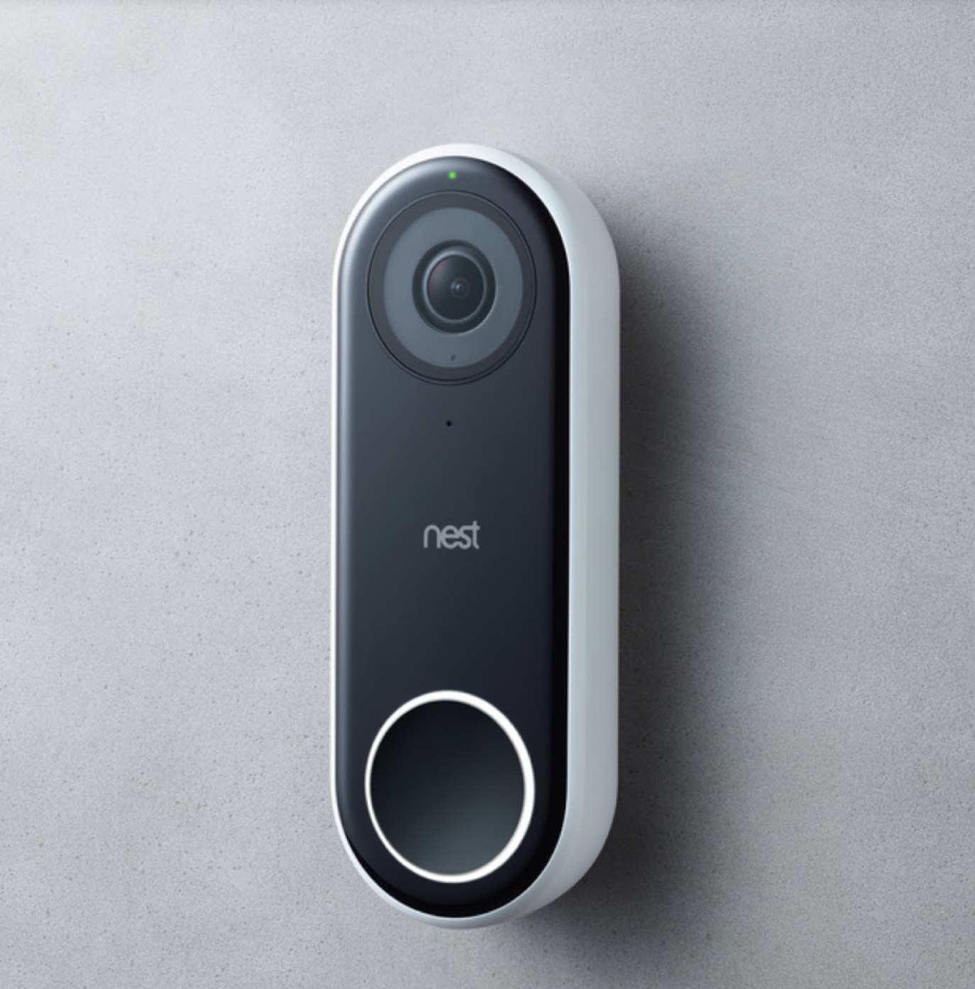 the long oval shaped camera in black with a camera on top and circle button on the bottom