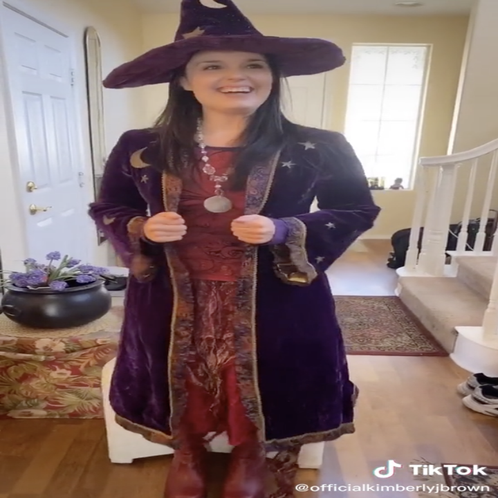 Kimberly J. Brown in her Marnie outfit