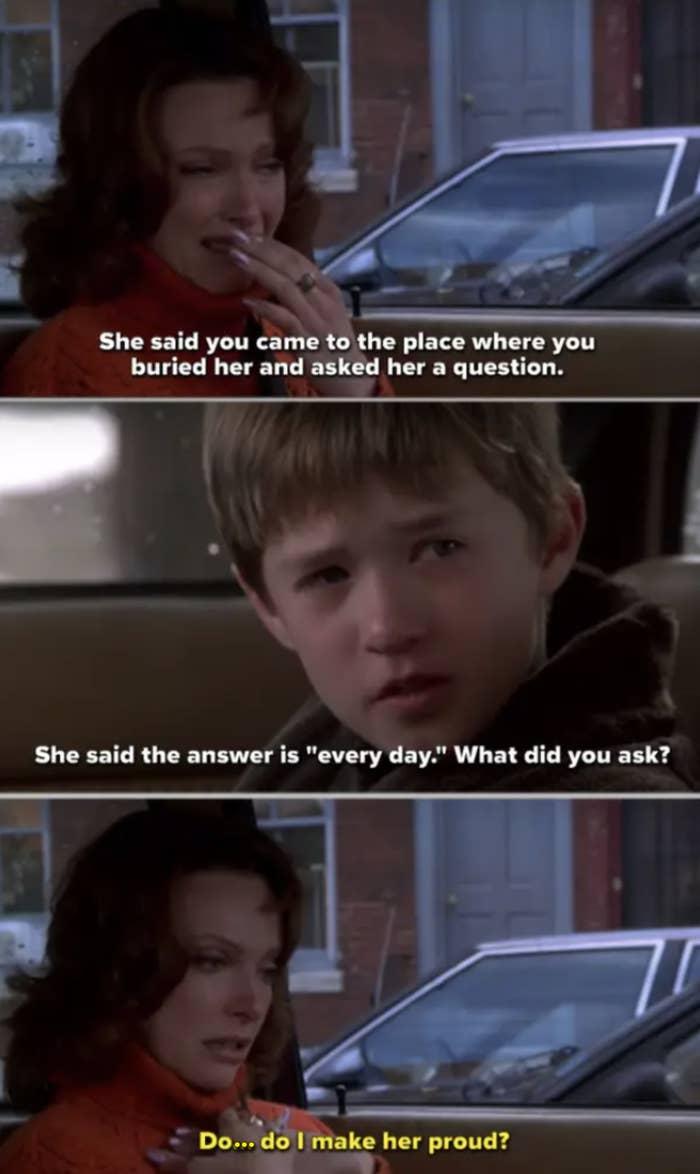 "The car scene in ""The Sixth Sense"""