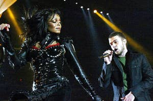Janet and Justin performing at the Super Bowl together