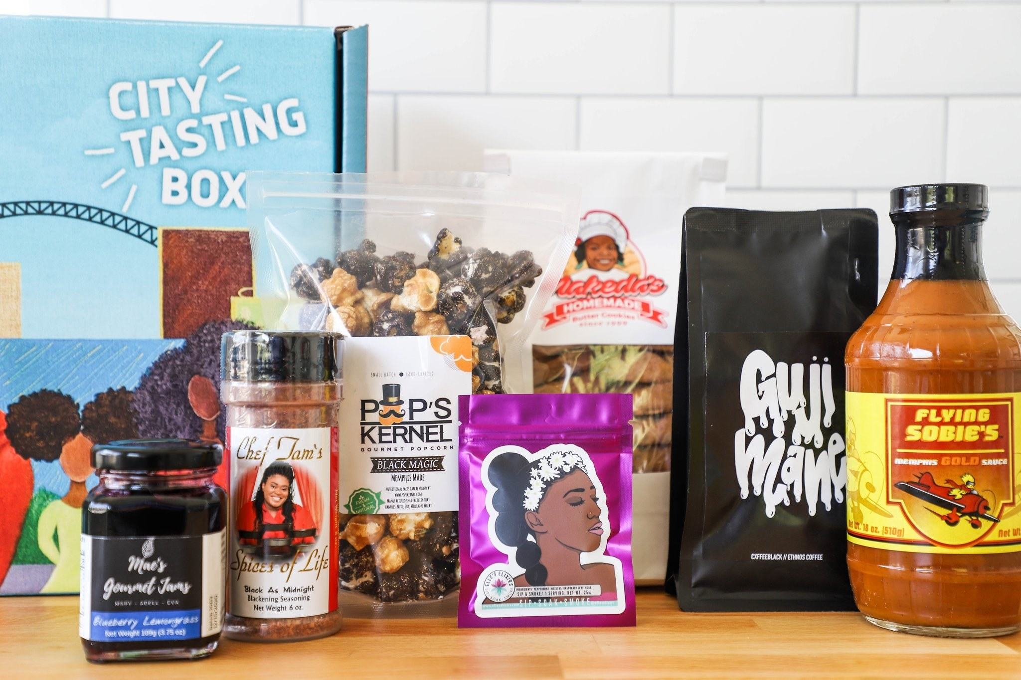 the box of food gifts