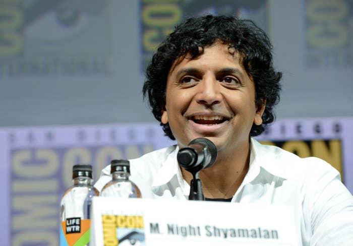 M Night Shymalan at 2018 Comic Con