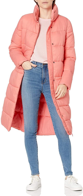 The zip-up pink coat