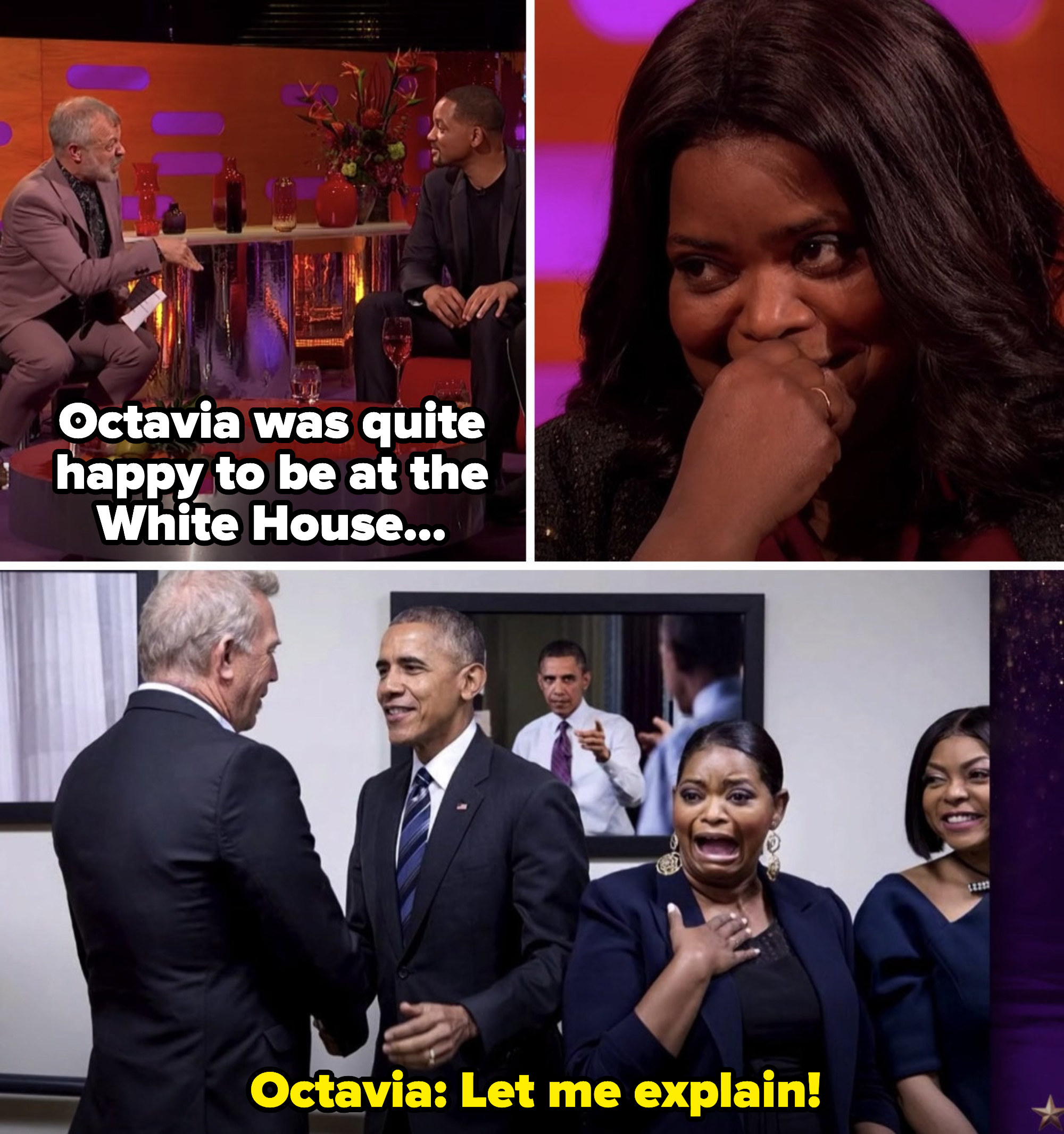 """Octavia Spencer on """"The Graham Norton Show,"""" with her embarrassing picture of meeting Barack Obama"""