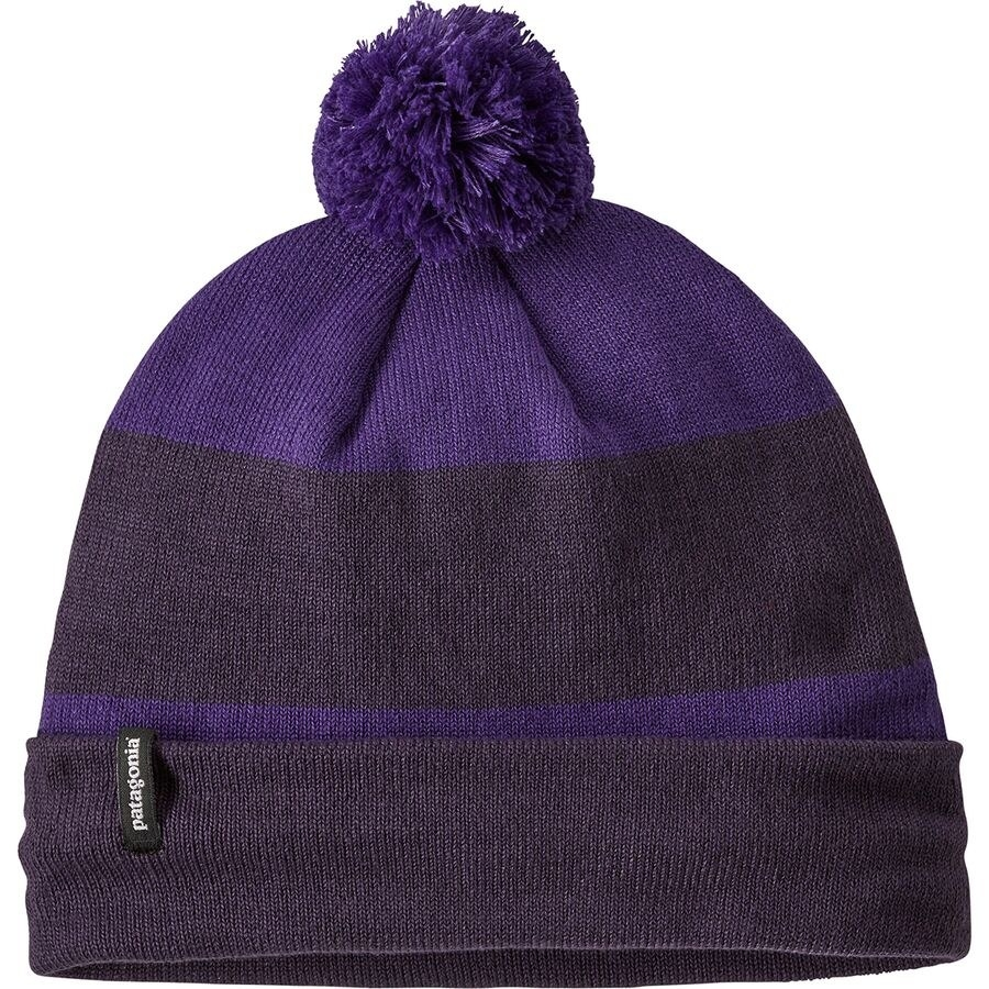 The beanie in the color Vote The Planet/Knit Purple