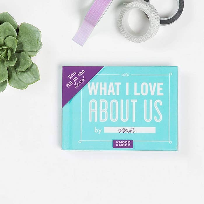 The Knock Knock 'What I Love About Us' fill in journal