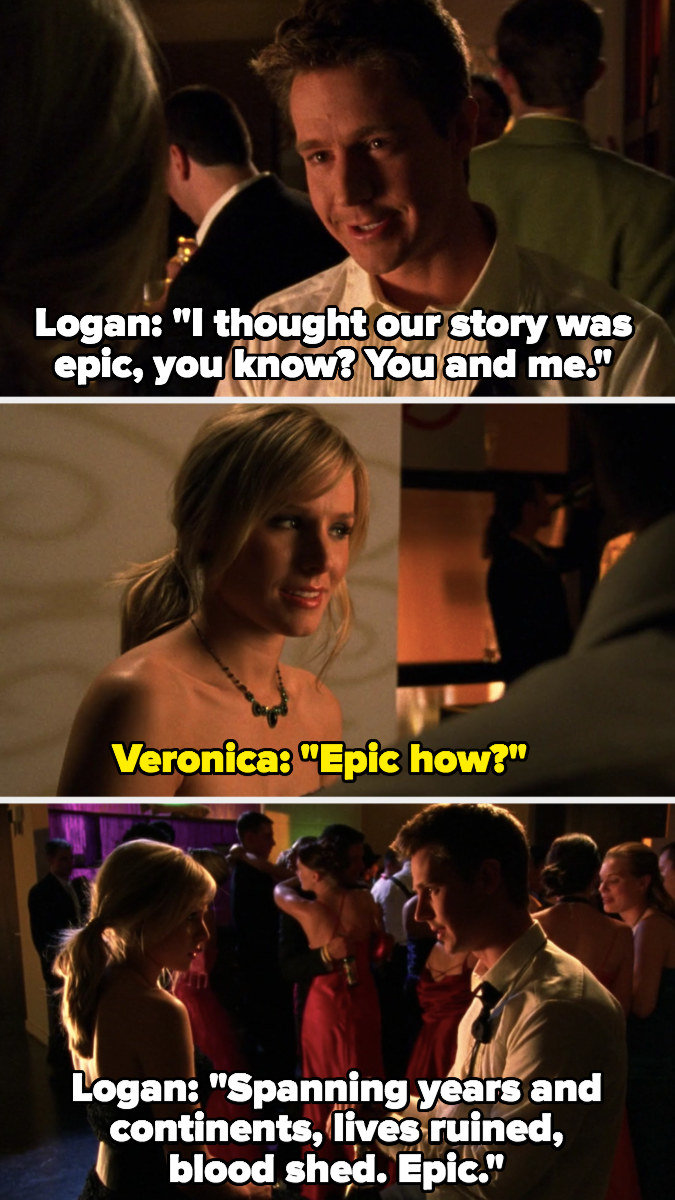 """Logan tells Veronica he thought their story was """"epic"""""""