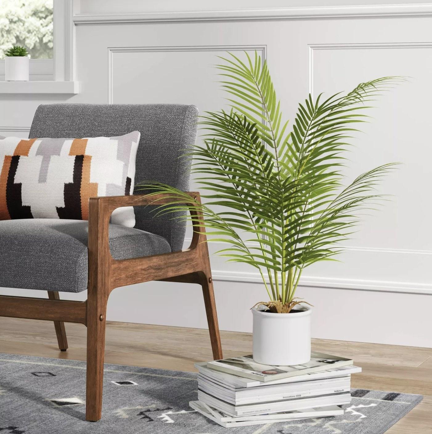 The artificial palm plant
