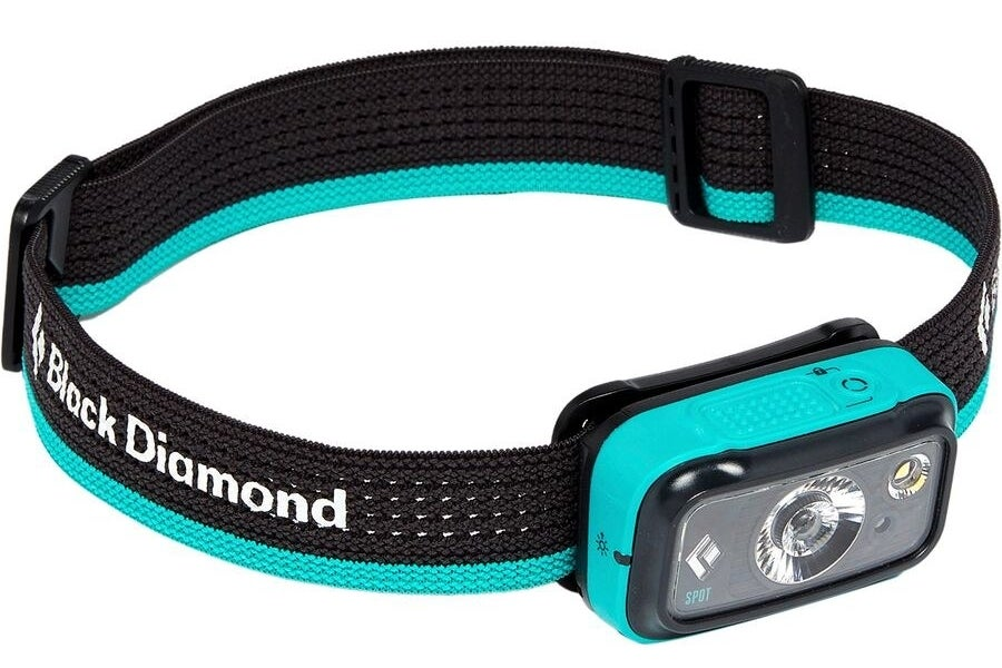 The headlamp in the color Aqua