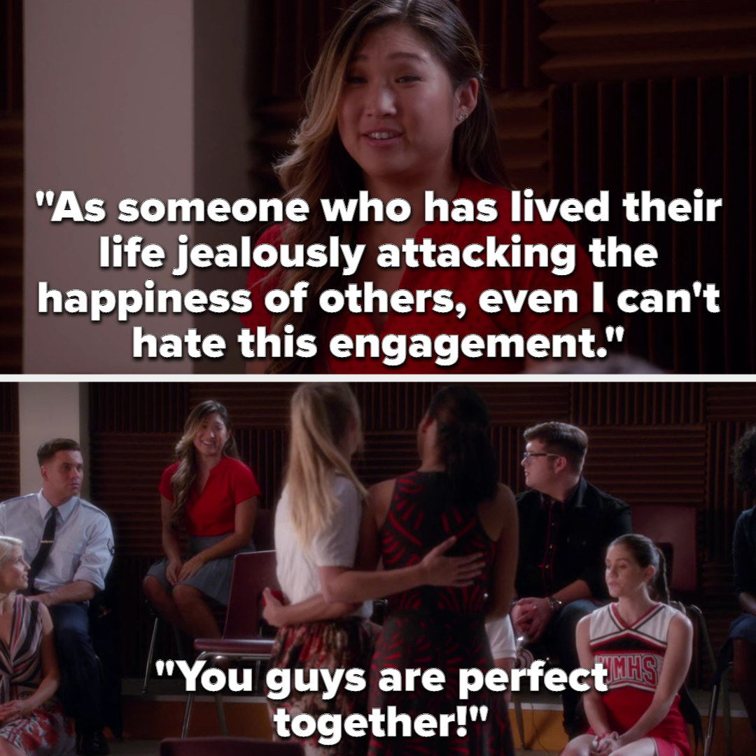 """Tina says, """"As someone who has lived their life jealously attacking the happiness of others, even I can't hate this engagement"""""""