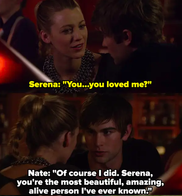 """Nate says """"of course"""" he loved Serena, calls her the """"most beautiful, amazing, alive"""" person he's ever known"""