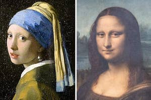 Girl with a Pearl Earring and Mona Lisa