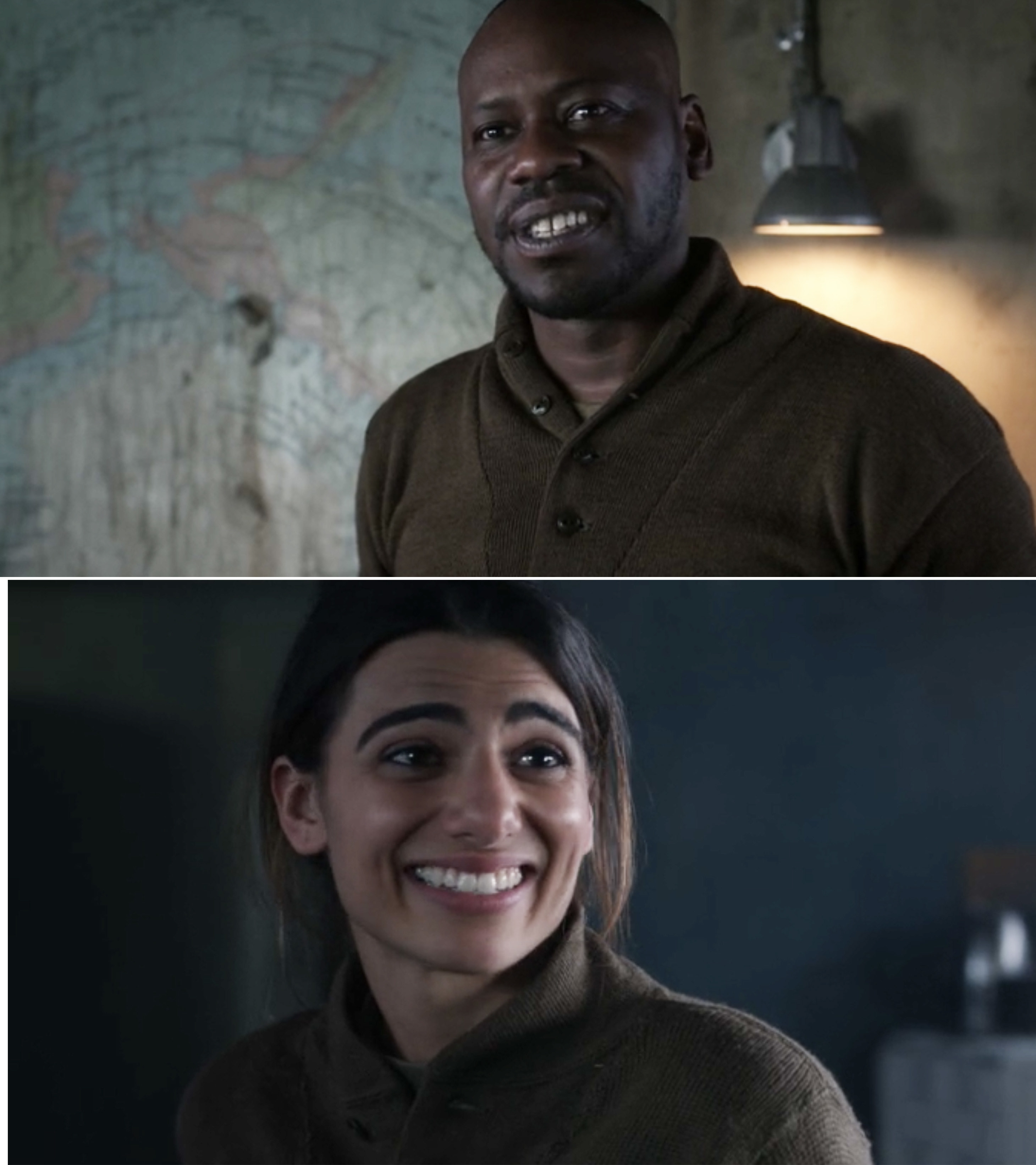 Rufus and Jiya smiling at each other