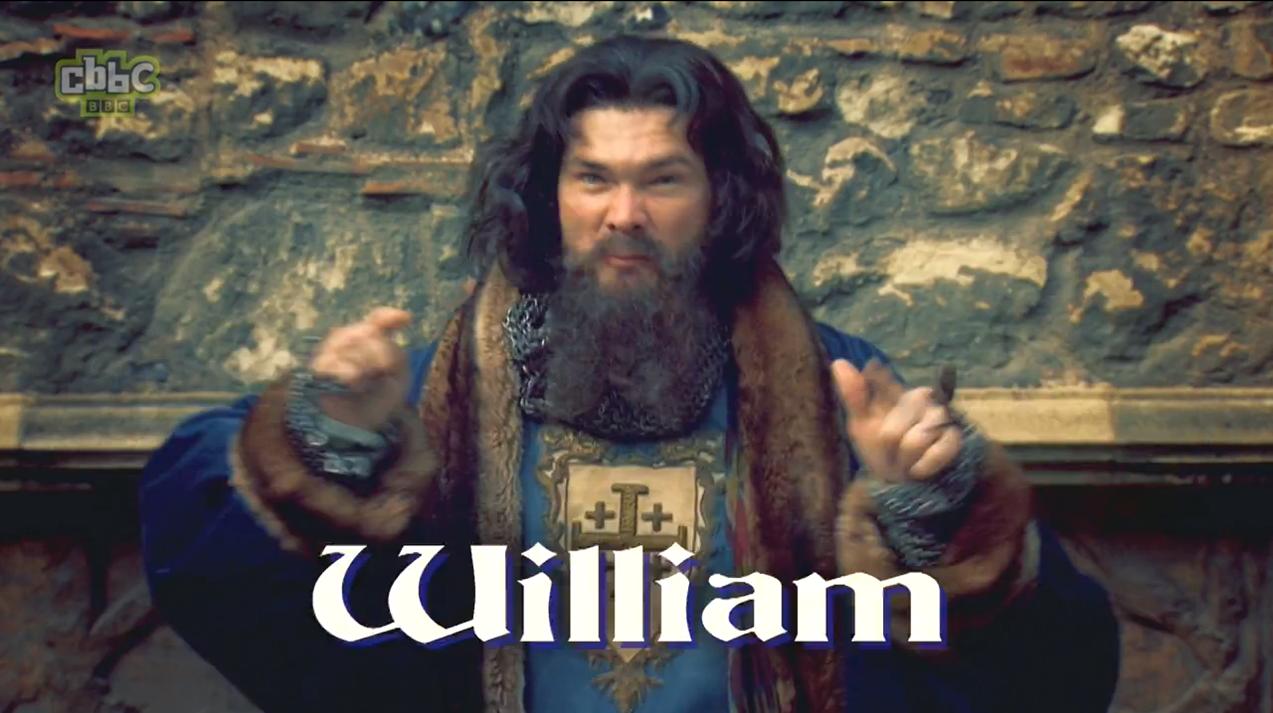 A man dressed as William the Conqueror