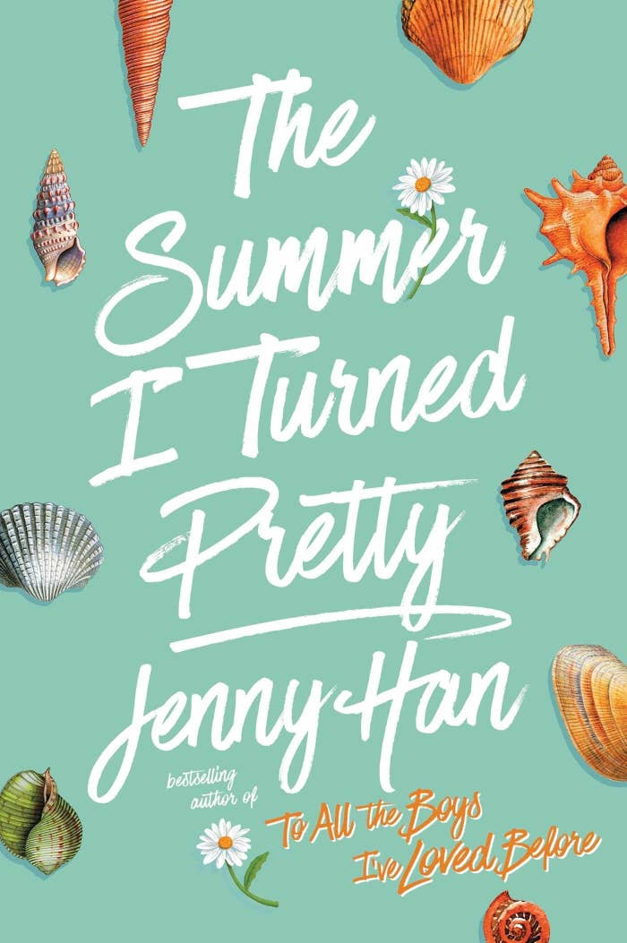 The cover of the book with the title surrounded by various seashells and two daisies