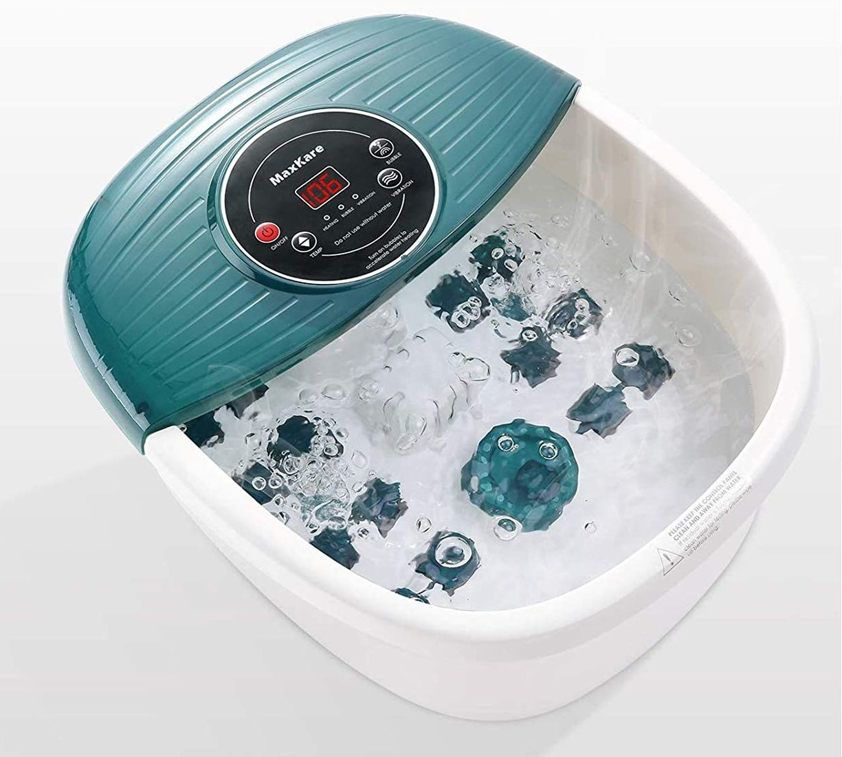 the foot bath with water in it