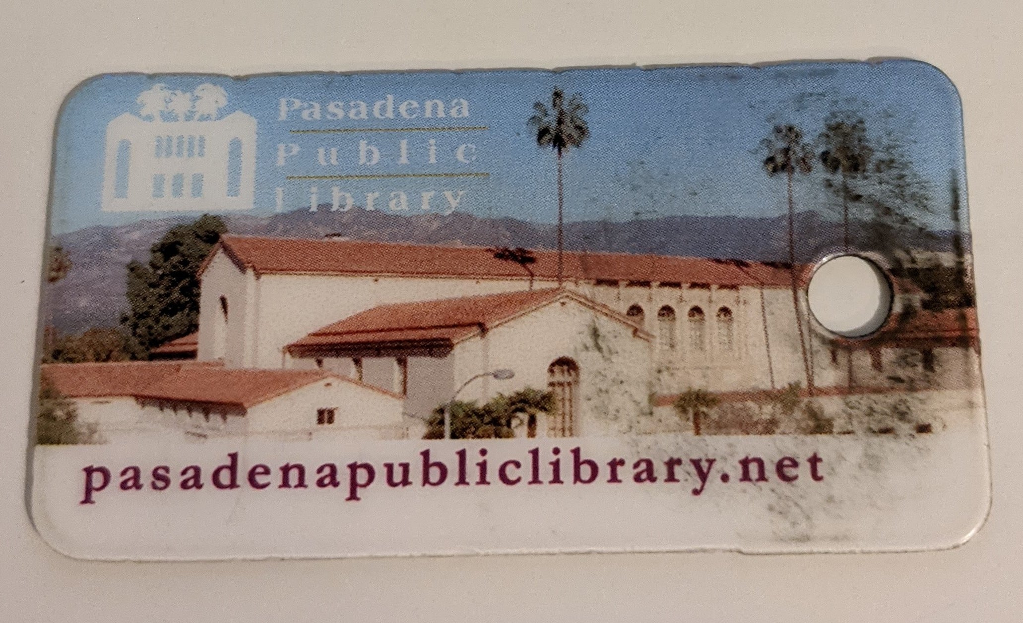 My well-loved library card