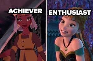 achiever tiana and enthusiast anna