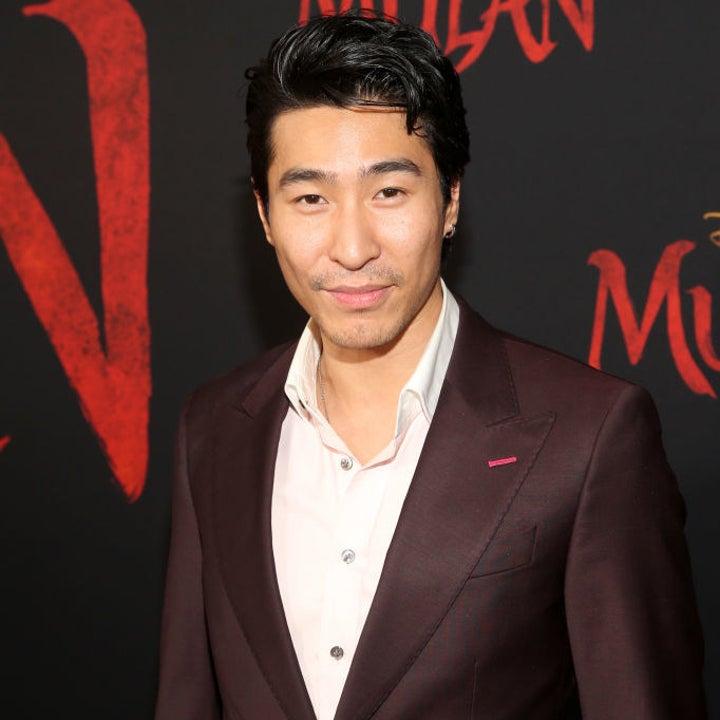 Pang in 2021 posing at the Mulan red carpet premiere