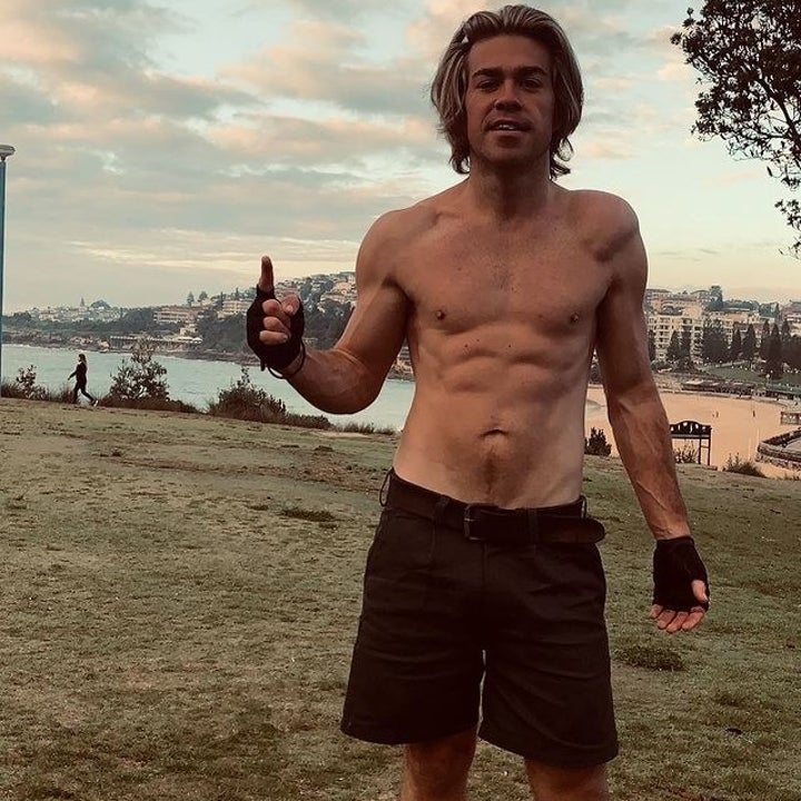 Ryan in 2021 doing a workout at the park