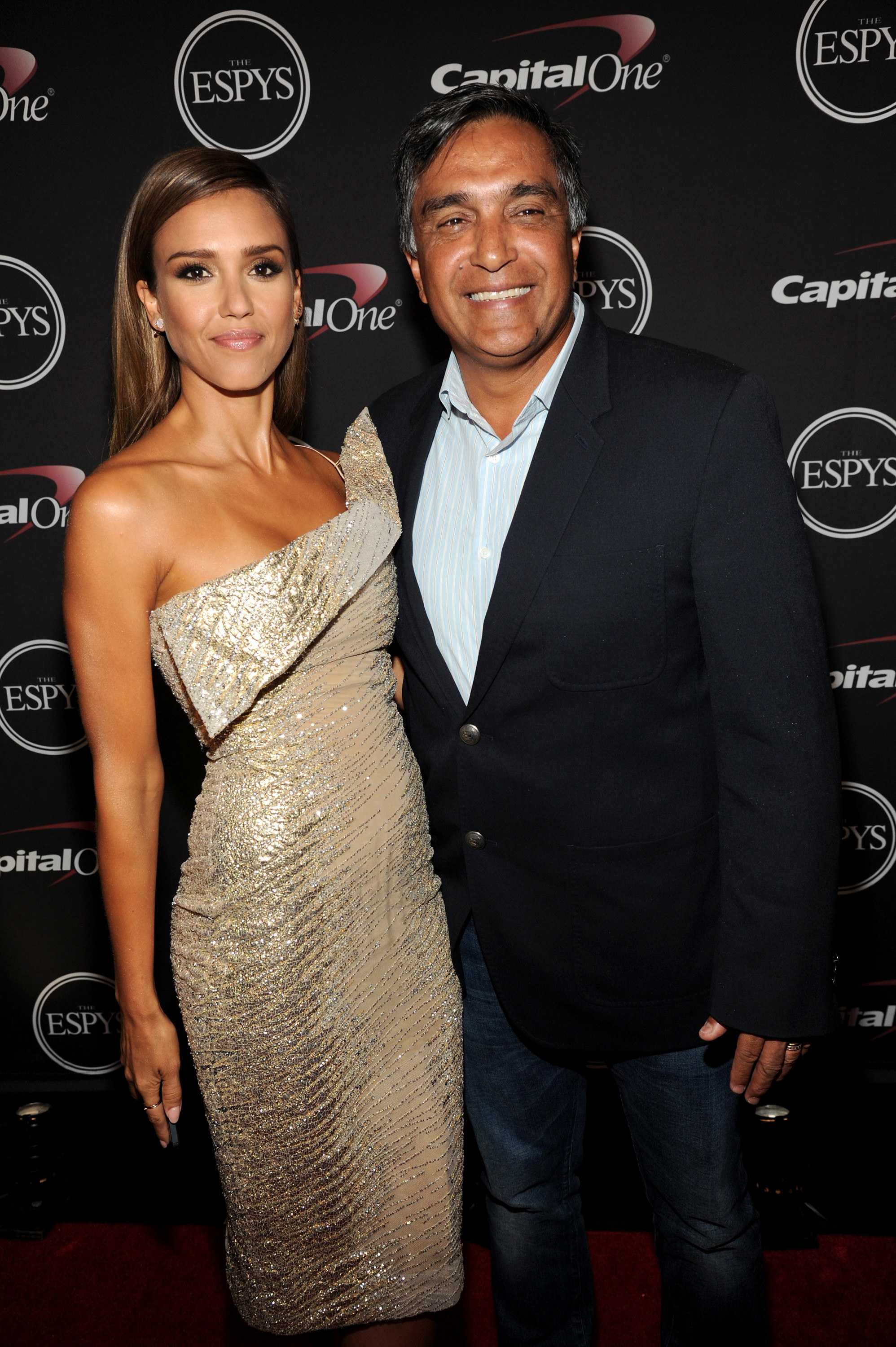Jessica Alba and her father Mark at the 2014 ESPYs in Los Angeles
