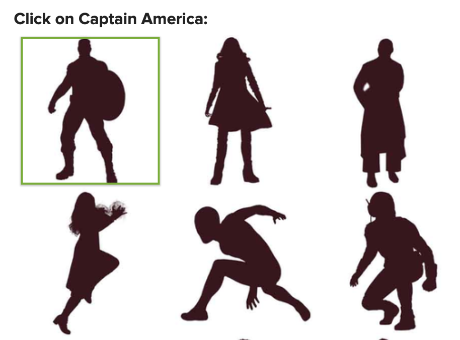Silhouettes of marvel characters