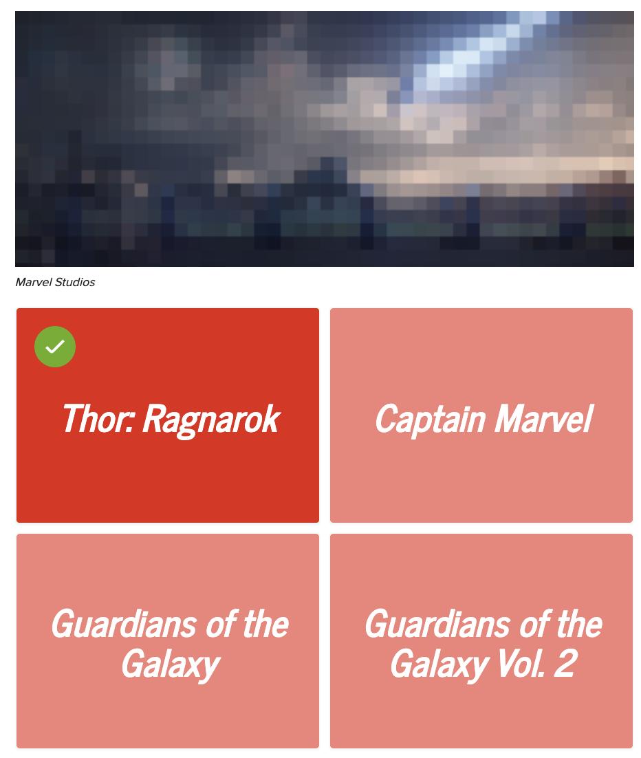 A blurred image of Thor Ragnarok