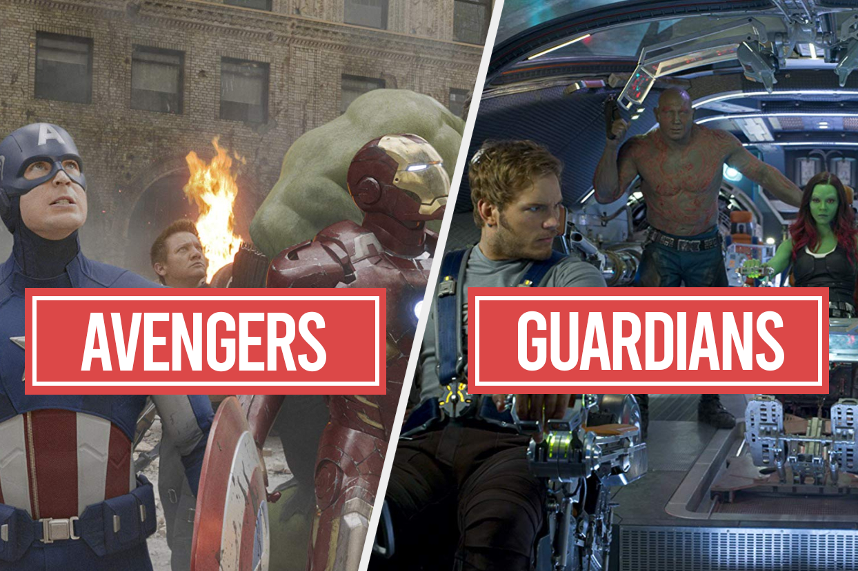 The Avengers and the Guardians of the Galaxy