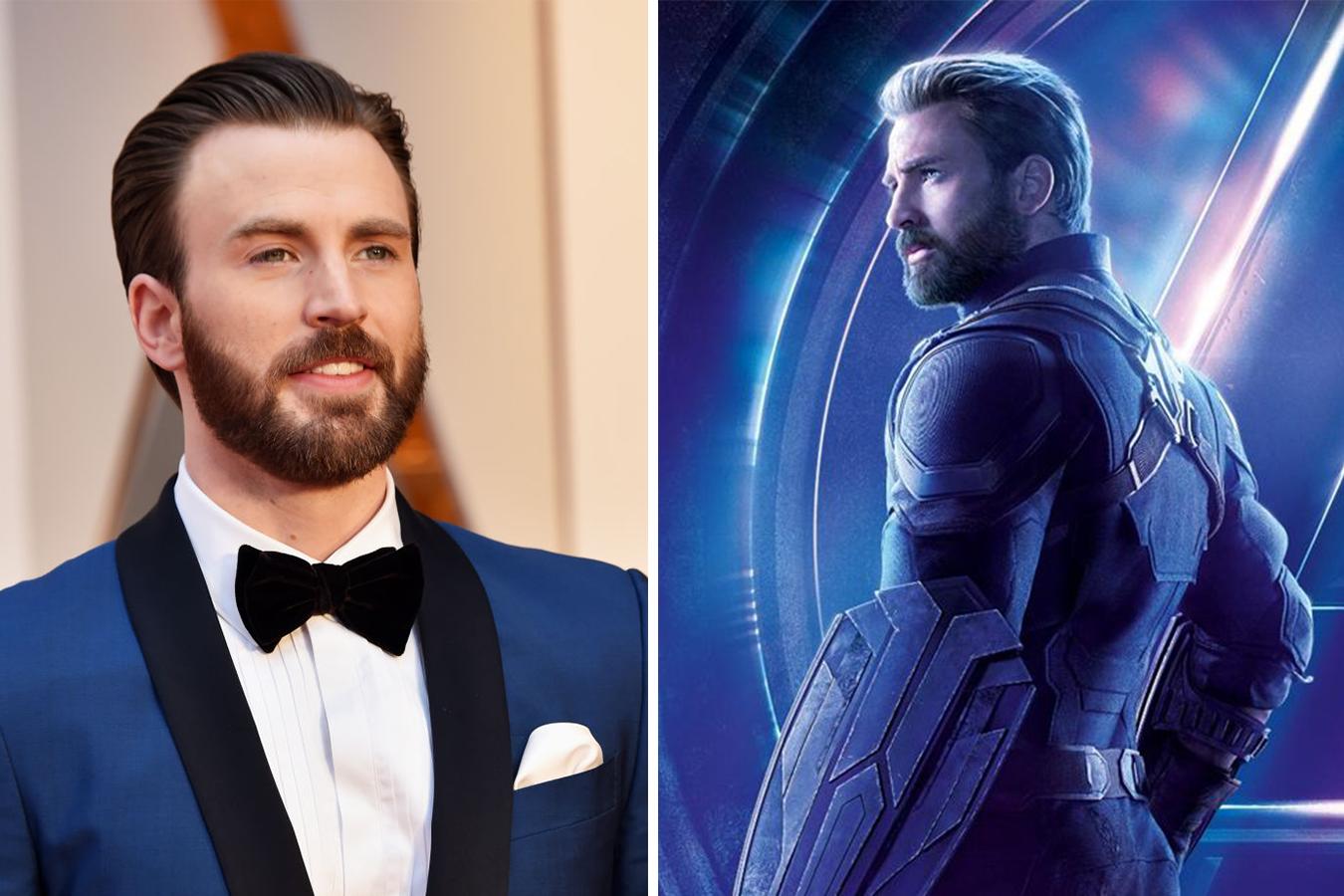 Chris Evans and Captain America
