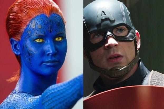 Mystique and Captain America