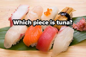 a plate of sushi