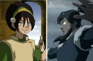 Toph and Korra