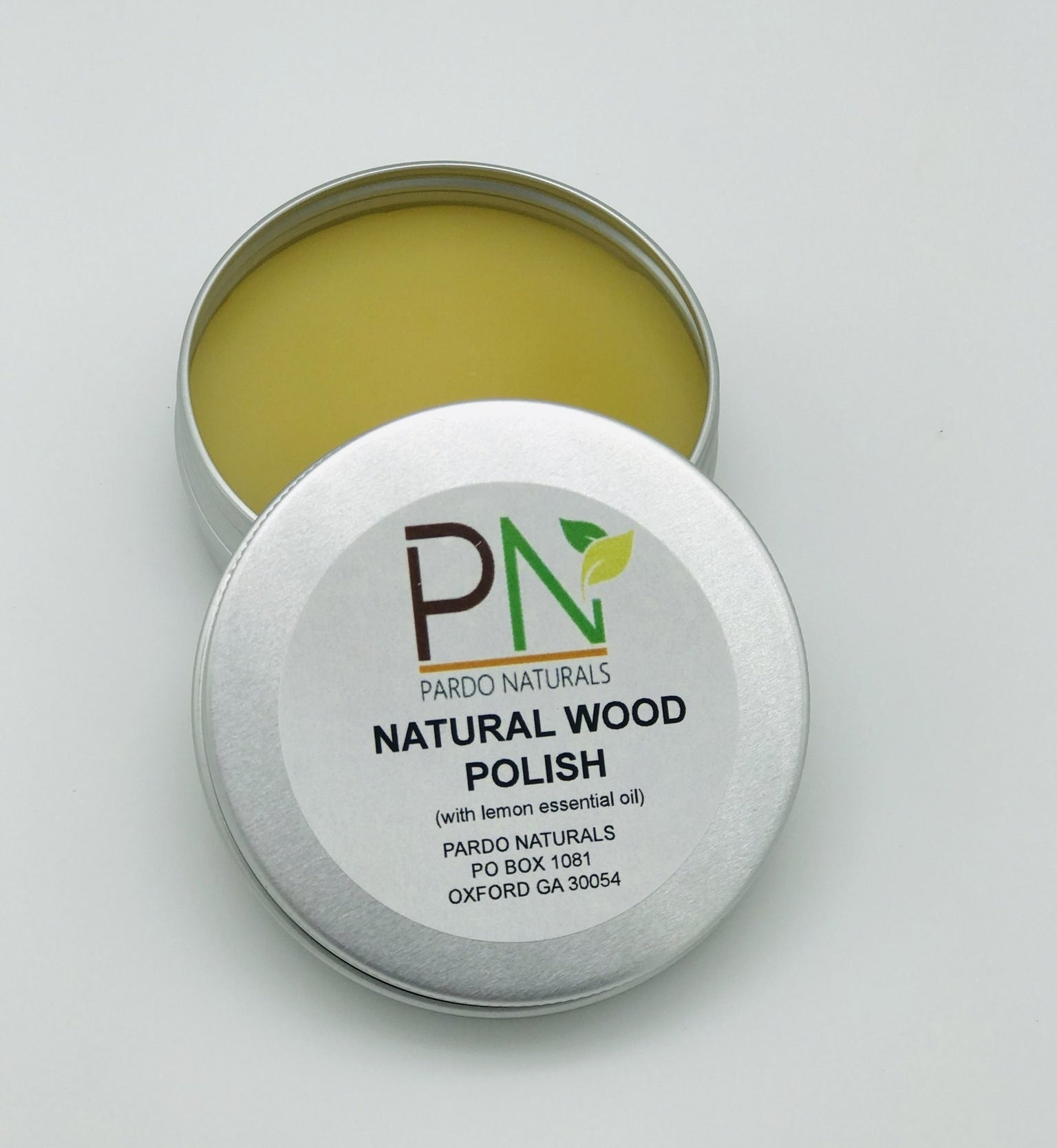 a tin of natural wood polish from pardo naturals