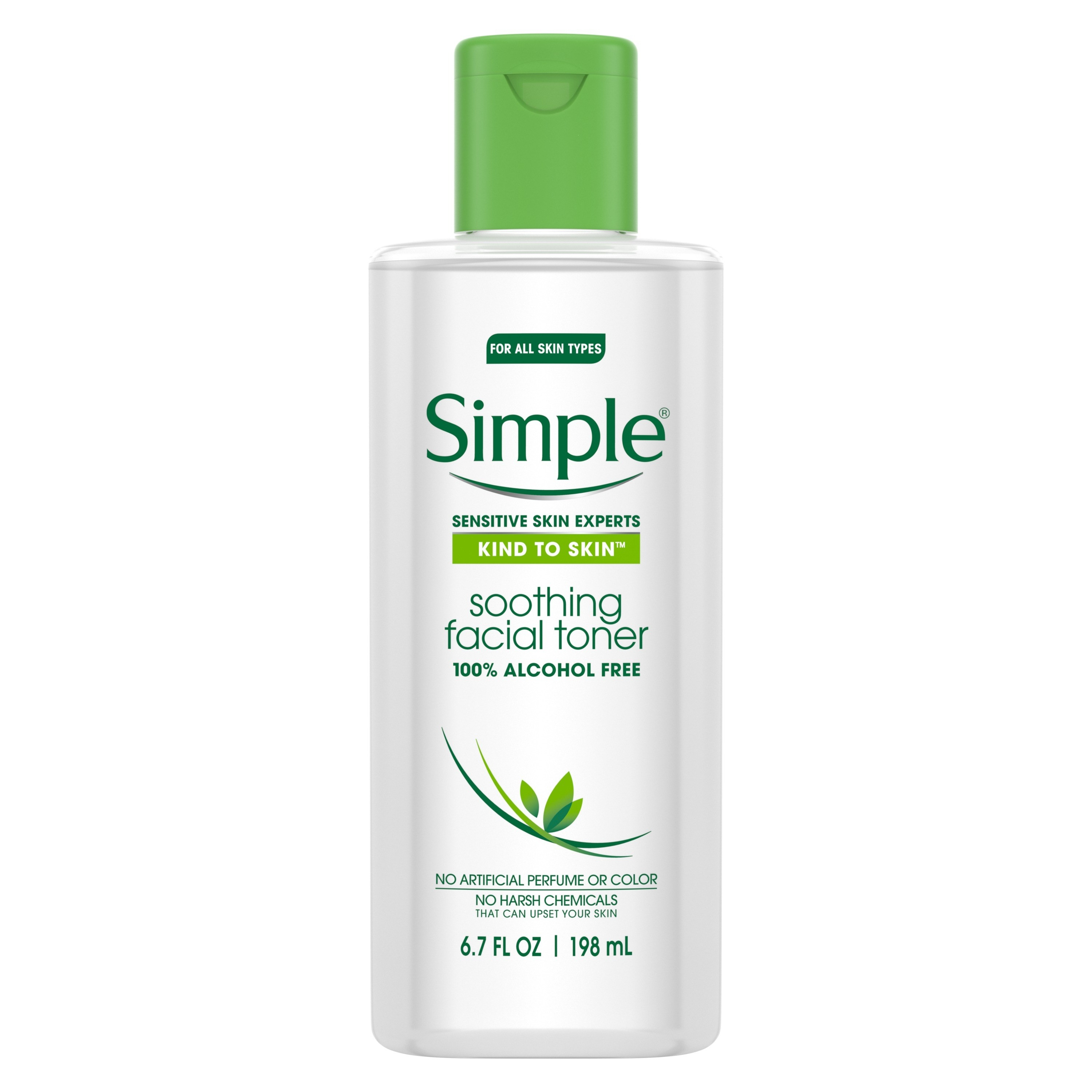 Bottle of Simple Soothing Facial Toner