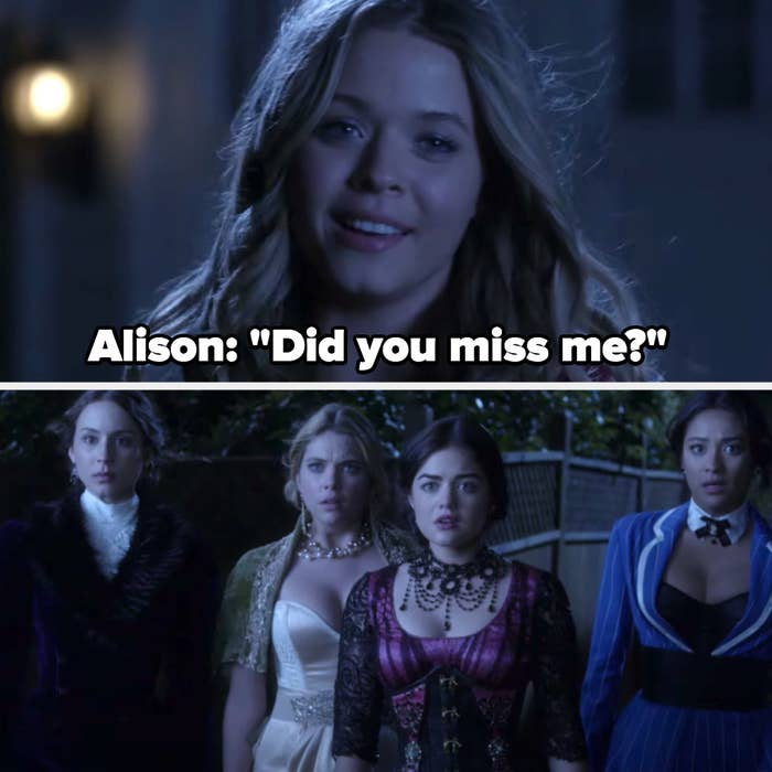 "Alison returns: ""Did you miss me?"""