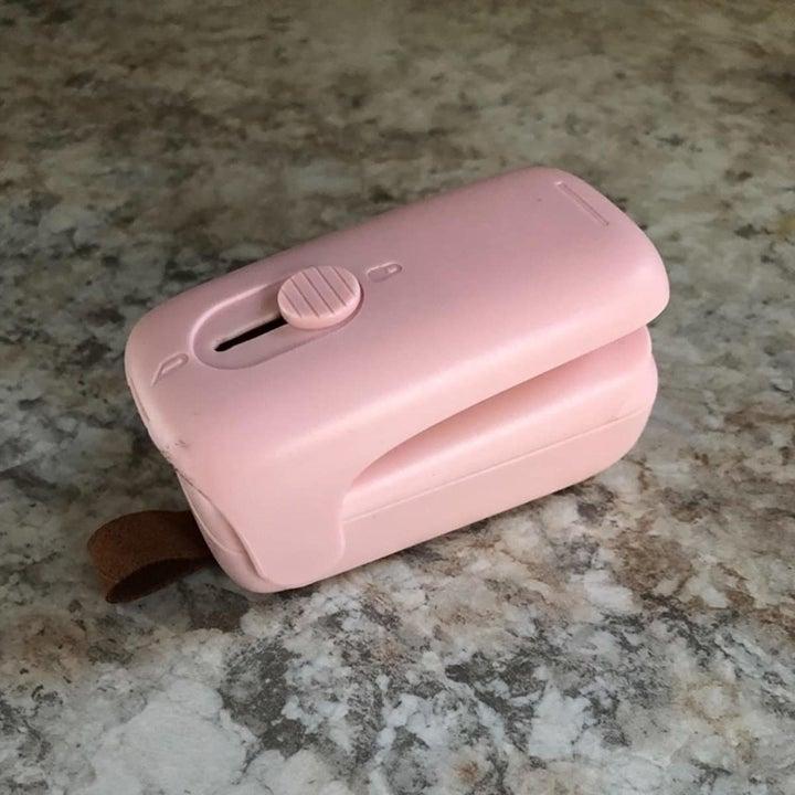 The pink bag sealer