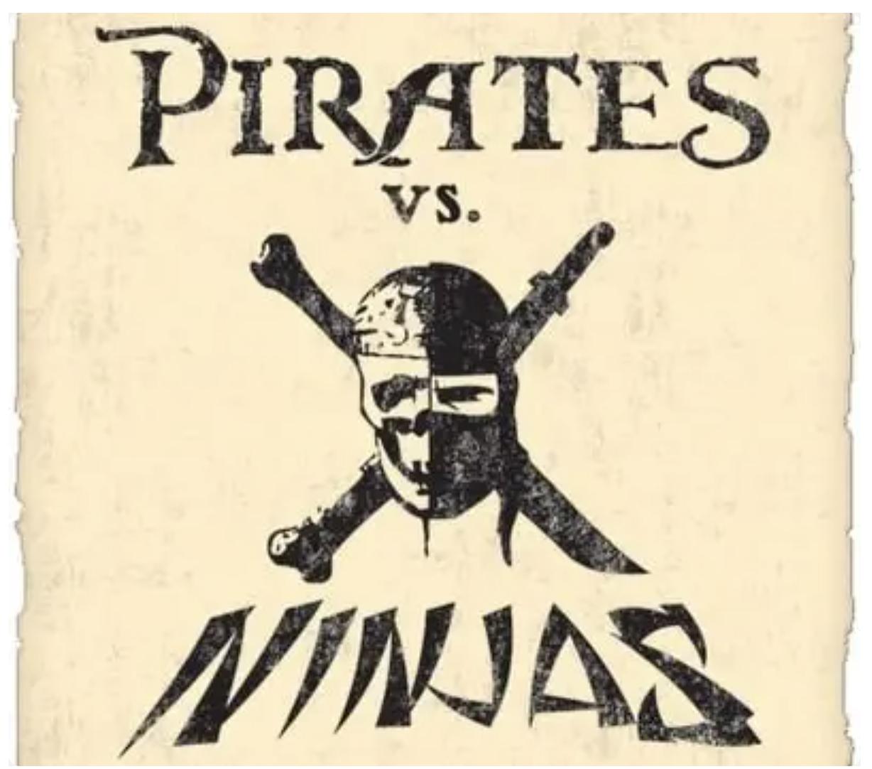 pirates vs ninjas logo
