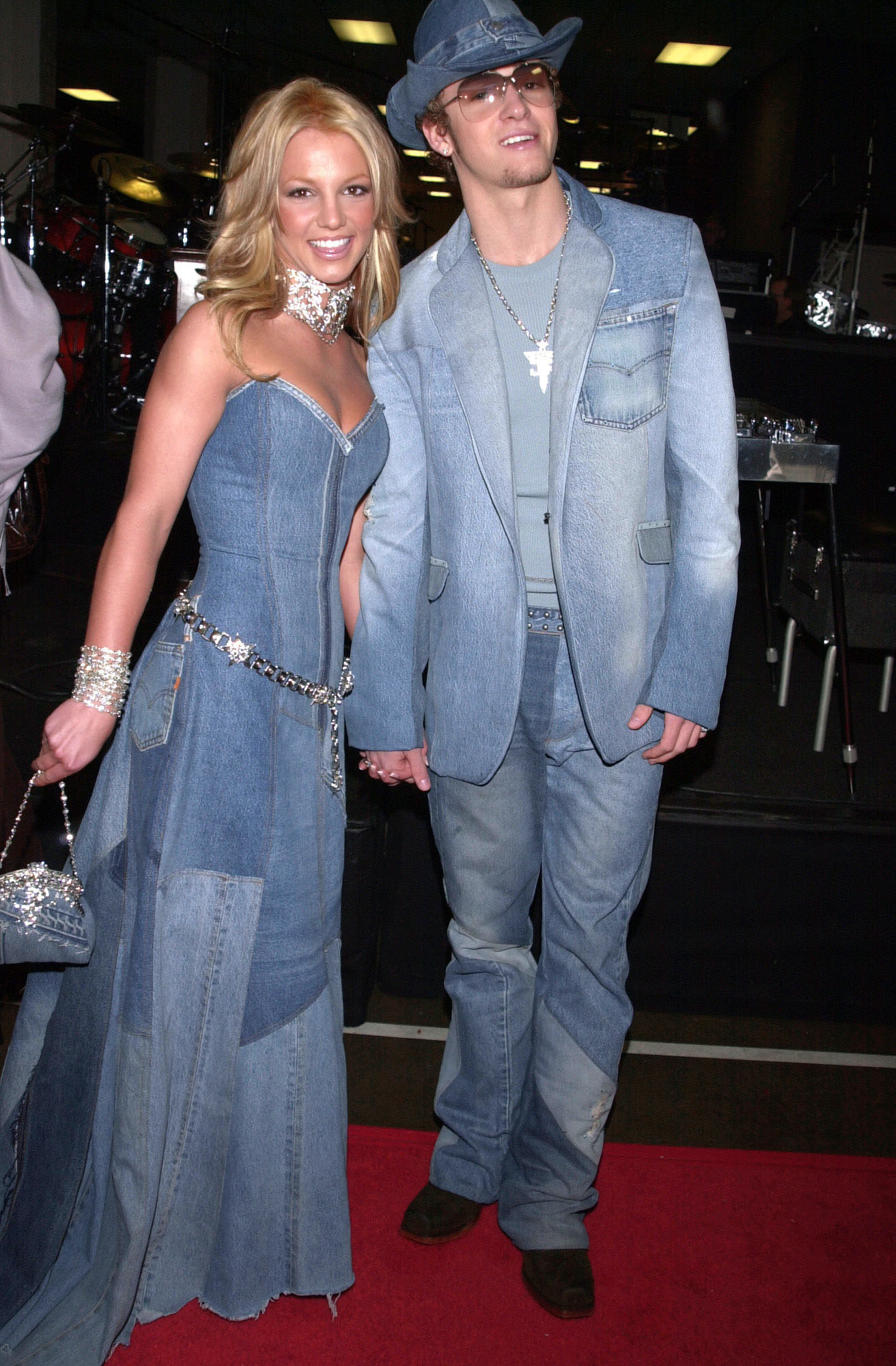 Britney and Justin in their infamous matching denim outfits