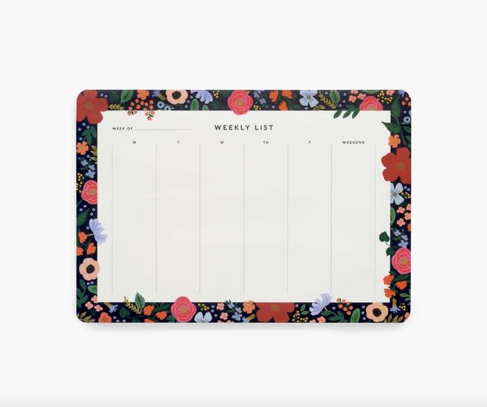 the floral desk pad