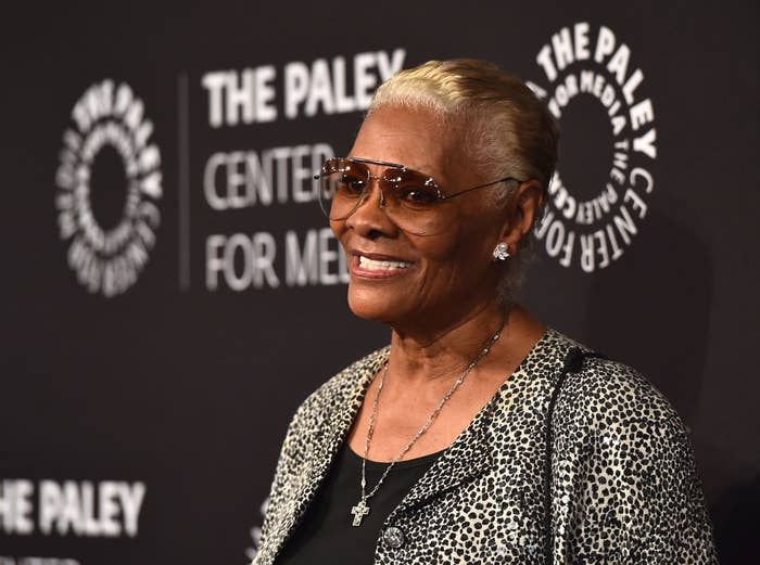 Dionne Warwick smiling at an event