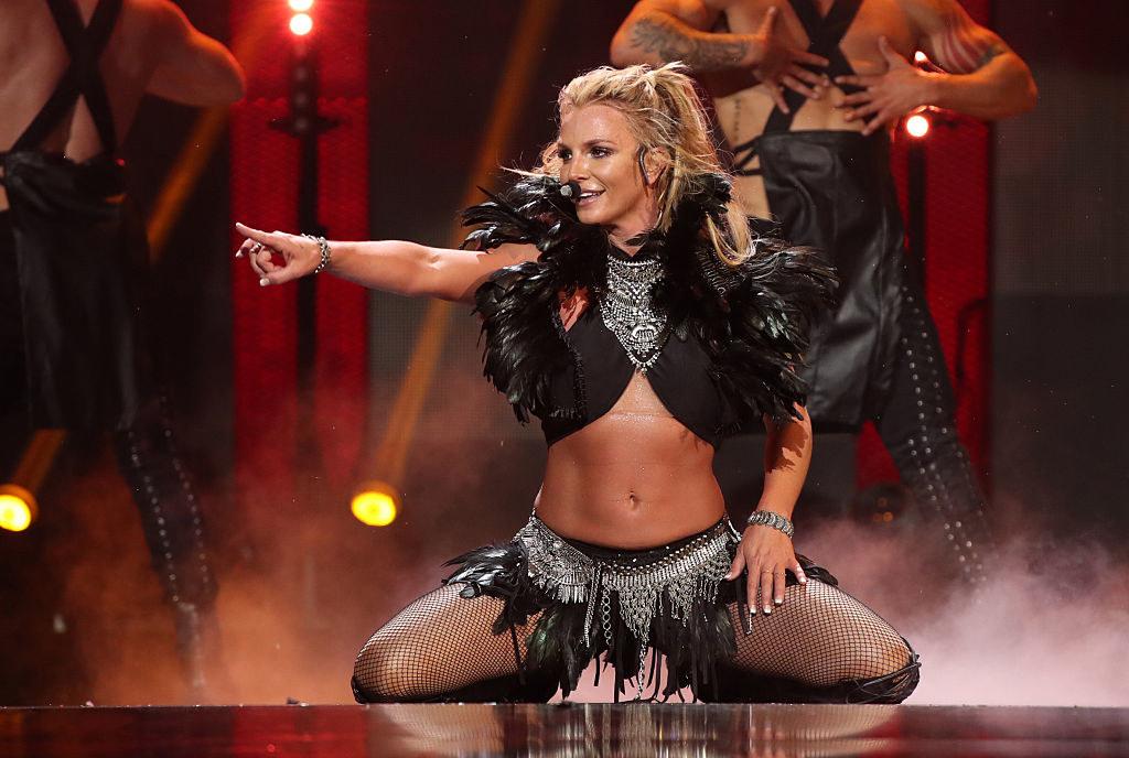 Britney Spears performing at her Vegas residency