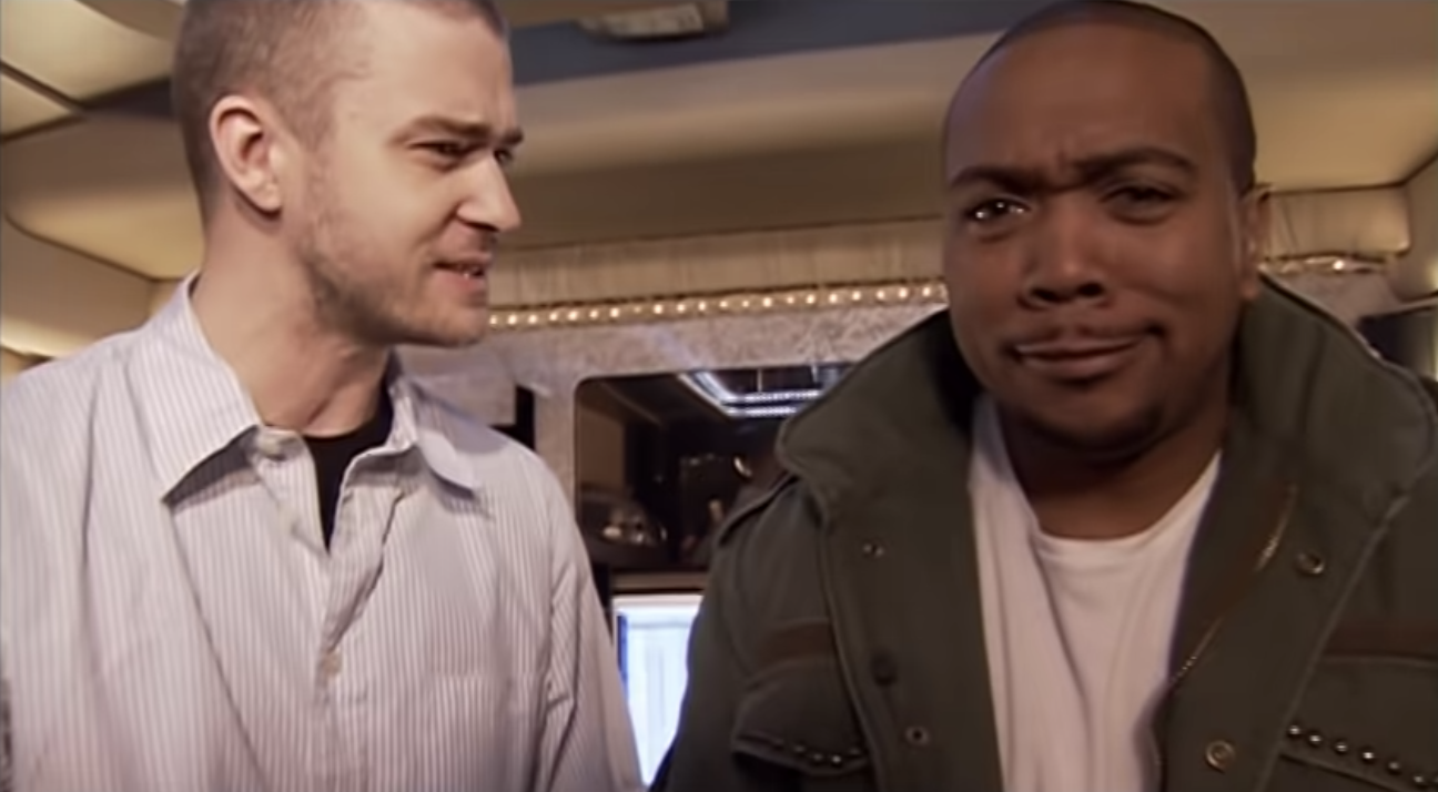 Justin Timberlake and Timbaland in the Give It To Me music video
