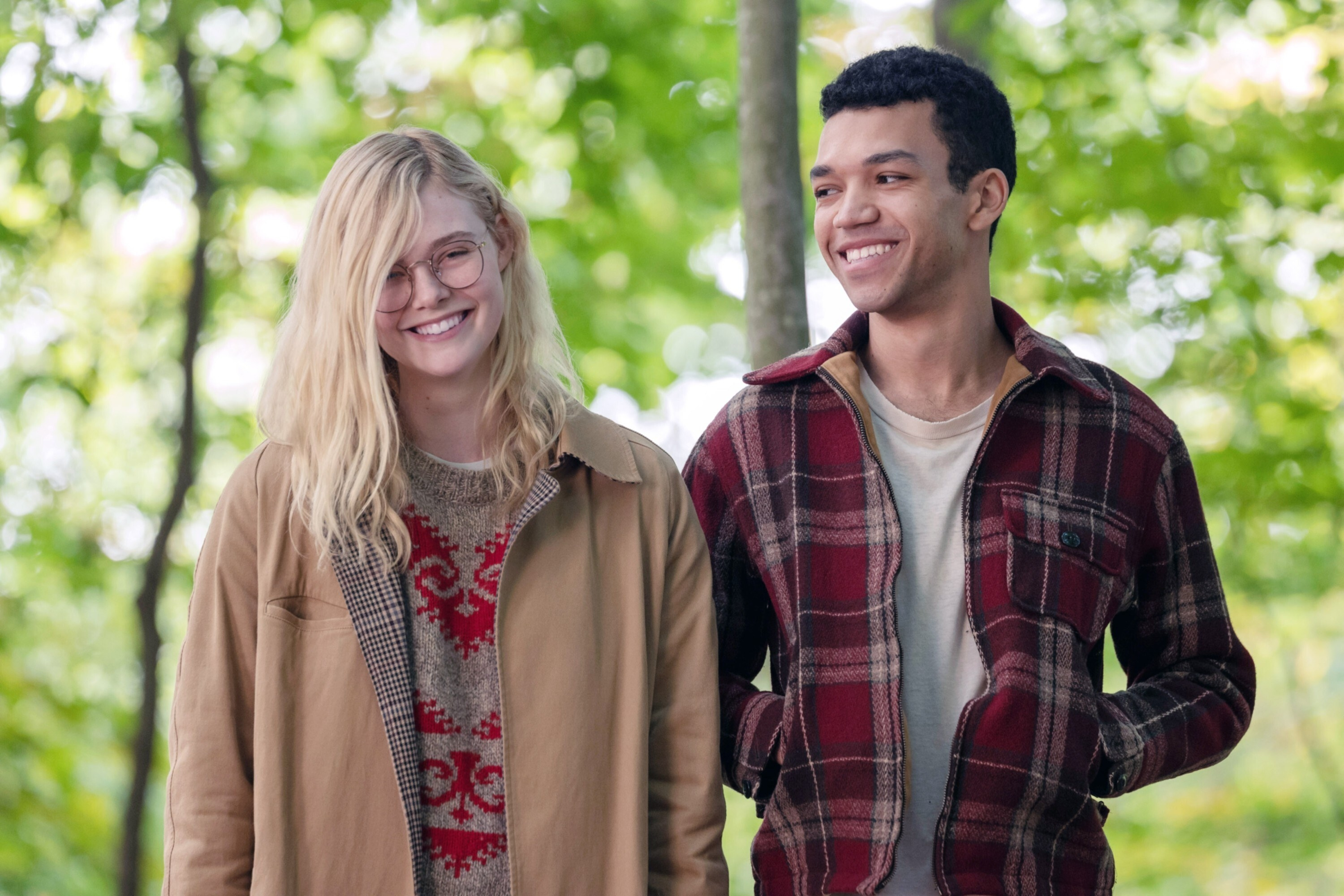 """Elle Fanning and Justice Smith in """"All the Bright Places"""""""