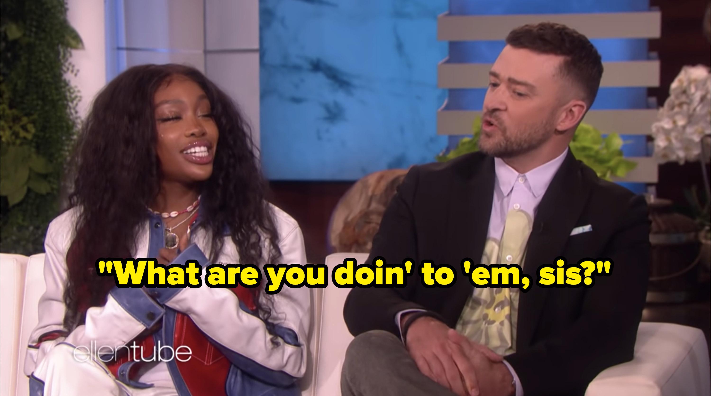 SZA and Justin Timberlake on The Ellen DeGeneres Show