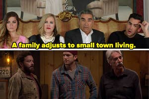 """The cast of the show """"Schitt's Creek"""" and the cast of the show """"The Ranch."""""""