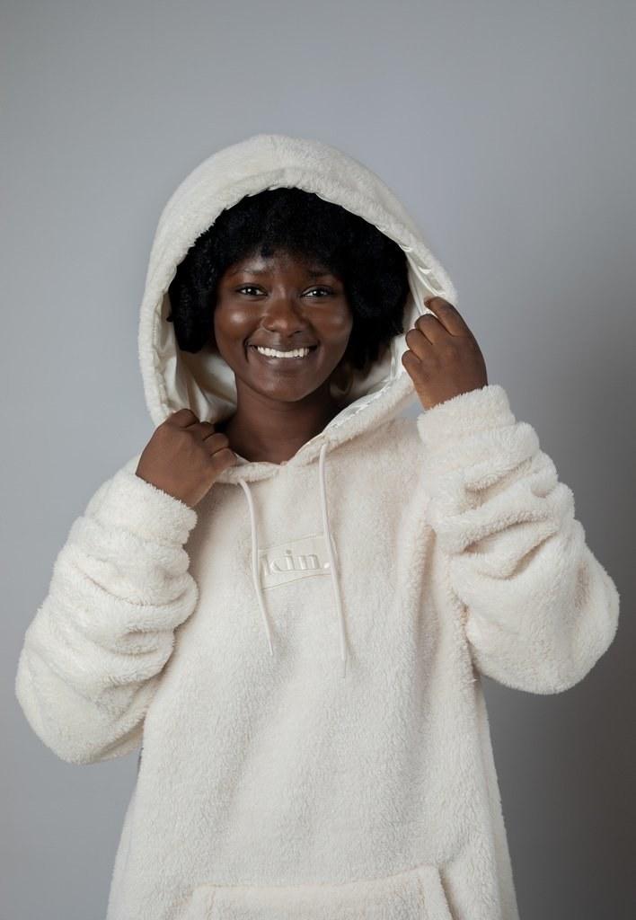 Model wearing sweater